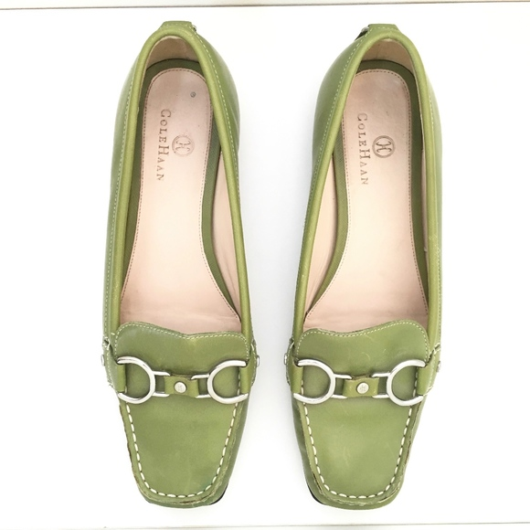 609f94041487 Cole Haan Shoes - Cole Haan NikeAir Lime Green Silver Buckle Loafer
